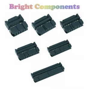 Cinta-de-IDC-Conector-Plug-2-54mm-10-14-16-20-26-34-40-vias-1st-Class-Post