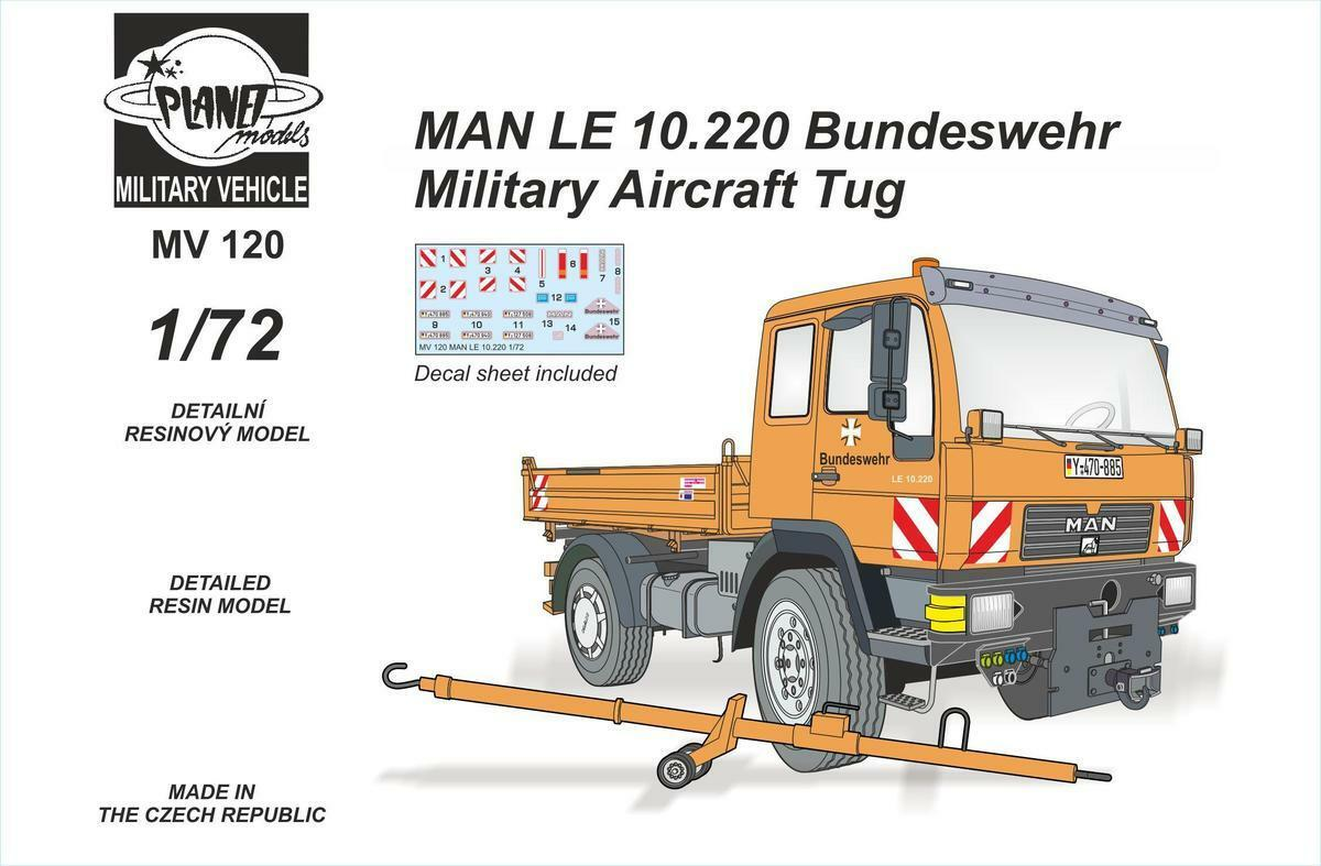 Planet 1 72 MAN LE 10.220 Bundeswehr Military Aircraft Tug   MV120