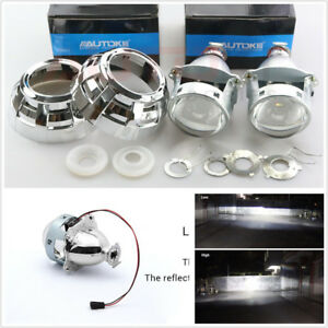 2-X-3-039-039-HID-Bi-Xenon-Projector-Lens-Shrouds-For-Car-Headlight-Retrofit-H1-H4-H7