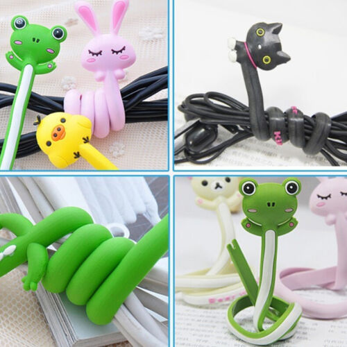 new Animal Earphone Headphone Wrap Cord Wire Cable Holder Winder Organizer  LC