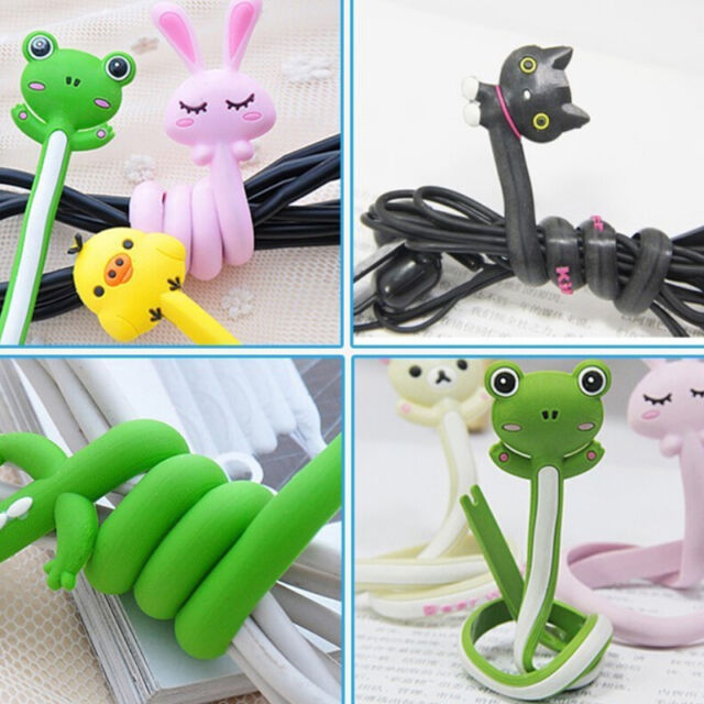 Kawaii Animal Earphone Headphone Wrap Cord Wire Cable Holder Winder Organize G