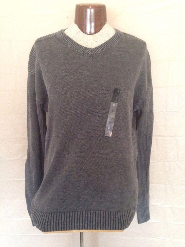 Sweater. Structure. Grey. XXL. 57%Ramie 43%Cotton.