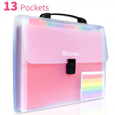 13 Pocket Portable Expanding File Folders Accordion File Document Organizer For