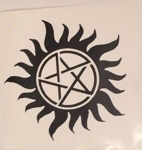Details about Anti-Possession Symbol Car Decal Sticker Supernatural  catholic voodoo demon 5
