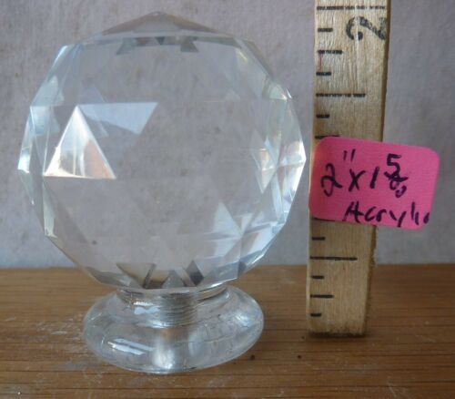 """Details about  /Lamp Finial Mid Century Deco Acrylic  2/"""" high x 1 5//8/"""""""