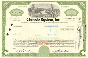 Chessie-System-now-CSX-Richmond-Jacksonville-railroad-stock-certificate-share