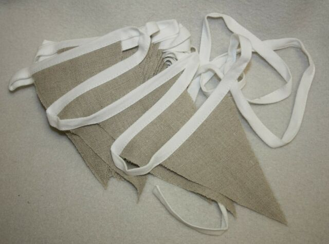 5m hessian jute linen bunting natural wedding venue decoration choose size
