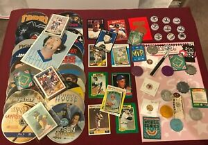 Huge Junk Drawer Lot of Collectibles, Johnny Bench, 22 Blu-Ray, Misc #5/11/17P