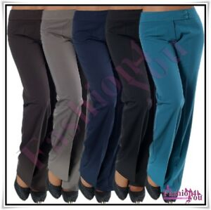 Sexy-Women-039-s-Office-Pants-Ladies-Classic-Casual-Trousers-Size-6-8-10-12-14-16-UK