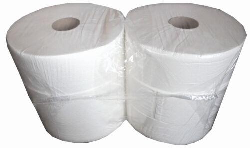 6 Maxi Jumbo Rollen Premium Toilettenpapier 2-lagig 300m Zellstoff Tissue weiss