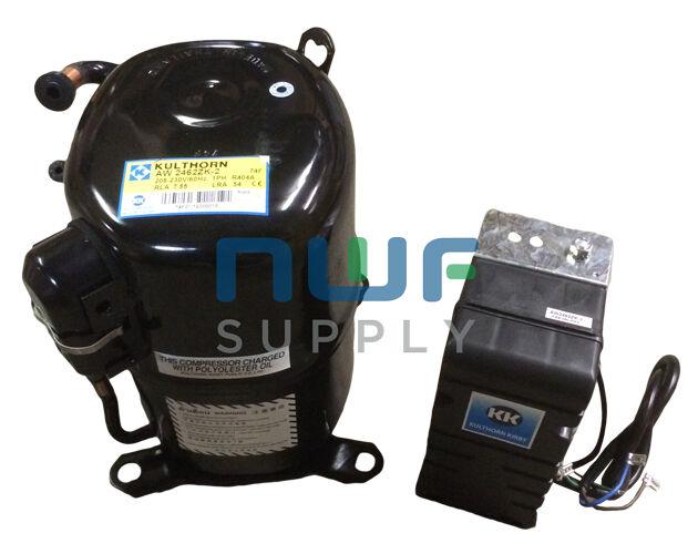 Aspera Replacement Refrigeration Compressor J2212GK 1 1/2 HP R404a