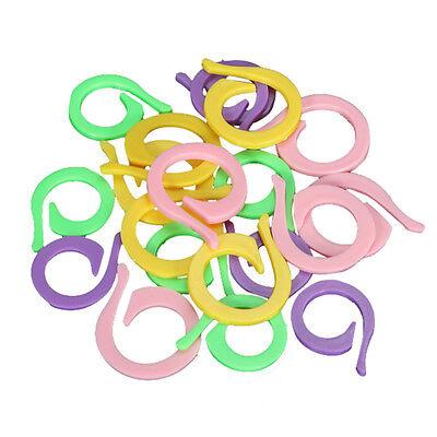 20Pcs Colorful Knitting Crochet Locking Stitch Markers Holder Needle Clip Craft