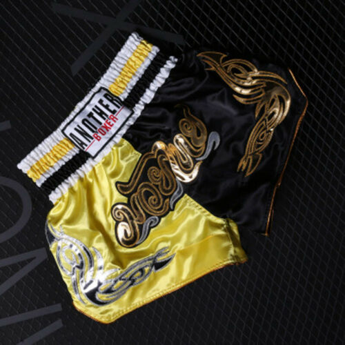 Mens Womens Muay Thai Boxing Sparring MMA Short Kickboxing Fitness Trunks Sports