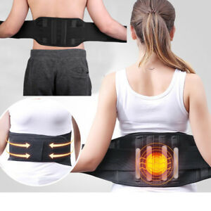 Adjustable-Magnetic-Double-Pull-Lumbar-Support-Lower-Back-Belt-Brace-Pain-Relief