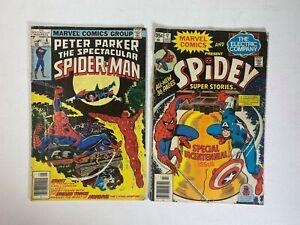 Spider-Man-Lot-of-2-Comics-Spectacular-6-amp-Spidey-Super-Stories-17-Low-Grade