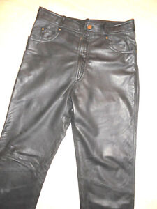 Herren-Teenis-Bikerhose-Motorradhose-Lederhose-Leatherpants-Gr-94-S-48