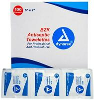 5 In X 7 In Dynarex Medical Bzk Antiseptic Towelettes 5 Boxes (500 Pads) Ms60700