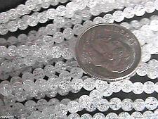 3mm Ice Flake Quartz Round Beads (130+/- per strand)