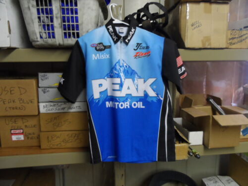 NHRA Top Fuel Race Used 2012 Team PEAK Starting Line Uniform Shirt Zizzo Racing
