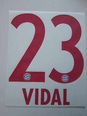 Original Bayern München Flock Away 2015/2016 Nummer 23 Vidal Kinder Hell Und Durchscheinend Im Aussehen