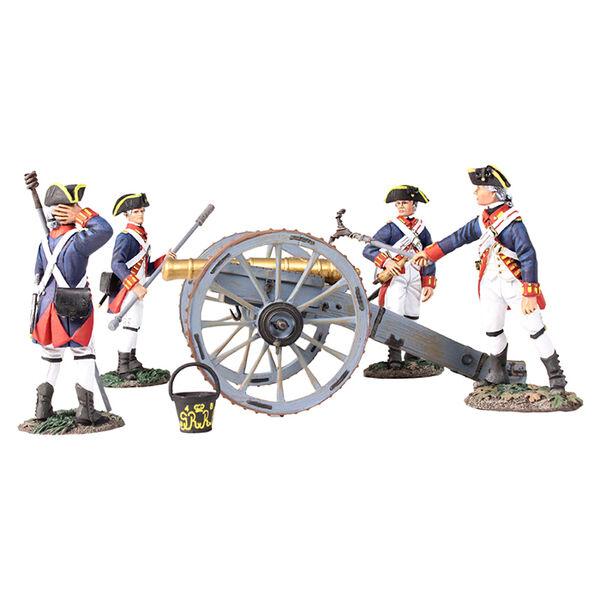 BRITAINS 16015 - British Royal Artillery 6 6 6 Pound Gun with 4 Man Crew 64c17e