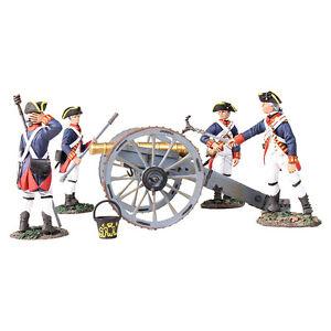 Britains 16015 - Canon royal de 6 livres avec artillerie britannique à 4 hommes