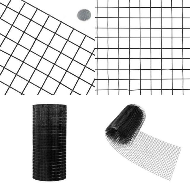 PVC-Coated 14-Gauge Galvanized Zinc-Coated Steel Black Fence Welded Wire 100-Ft