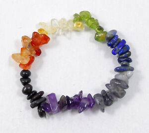 7-Chakra-Chip-Stretchy-Bracelet-Natural-Crystals-Lazuli-Reiki-Bracelets-For-Wome