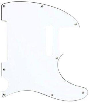 Genuine Fender 60s Telecaster//Tele 8-hole 3-ply White Pickguard 006-0817-000