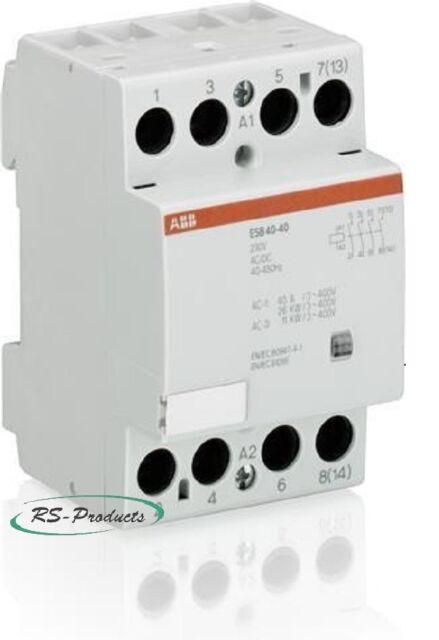 ABB Installationsschütz ESB40-40-230AC/DC, 4Schließer, GHE3491102R0006