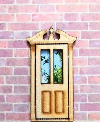 """Dollhouse Miniature  Laser Cut  Door 1//4 /"""" Scale BR"""