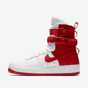 Details about Nike SF Air Force 1 Red and White Hi Top Men's Boot AR1955 100 Size 12