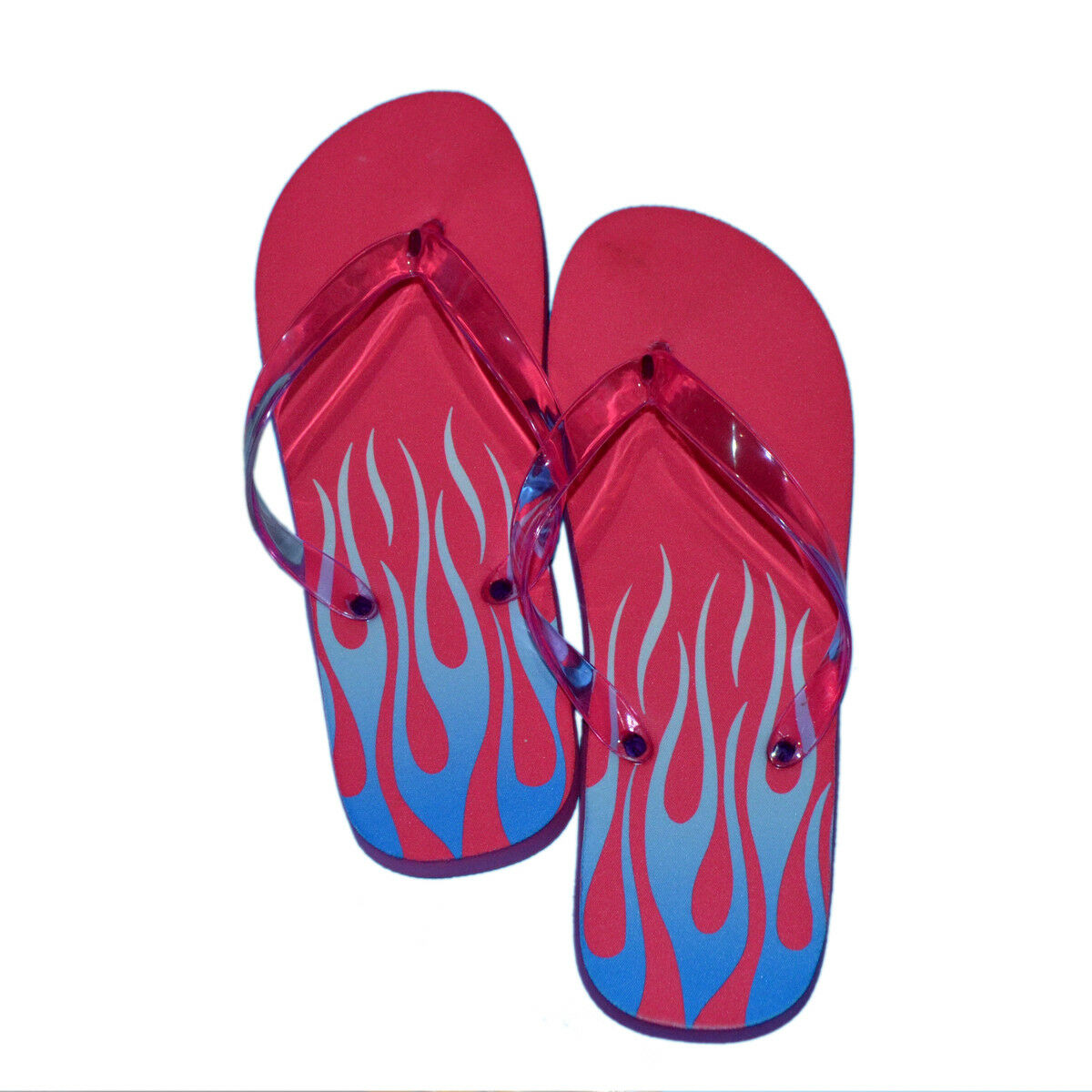 LADIES Flame MEDIUM Pink & Blue Flame LADIES Design Flip Flops SANDALS BEACH SHOES PRESENT da20b4