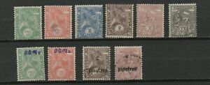 ETHIOPIE-EMPIRE-10-timbres-no-1-2-3-4-5-7-22-23-82-83-neufs-charniere