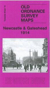 AgréAble Carte De Newcastle Et Gateshead 1914-afficher Le Titre D'origine Performance Fiable