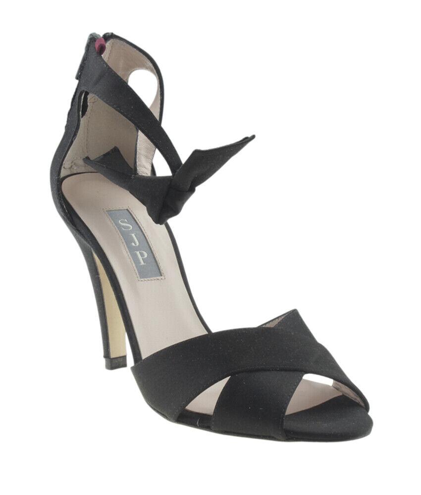 online economico Sarah Jessica Parker Buckingham Satin nero Satin Heels, Dimensione 36.5 36.5 36.5  fantastica qualità