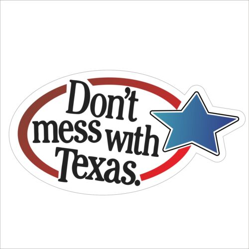 3M Graphics Don/'t Mess With Texas Vinyl Car Truck Bumper Helmet Sticker Decal MO
