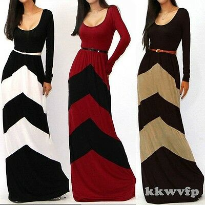 Kaftan Abaya Islamic Muslim Women Winter Autumn Long Vintage Maxi Dress & Belt