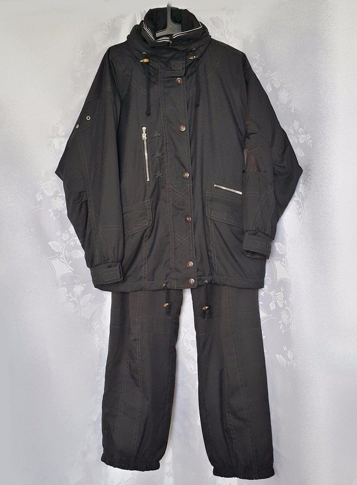 AUTHENTIC BOGNER ZIPPED WITH HOOD WOMENS PANTS SNOW SUIT SIZE US10 EU38