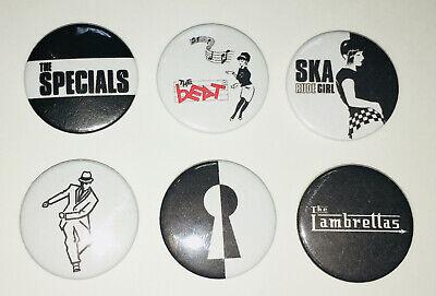Madness Selector Beat Specials SET 3 Quality Ska Retro Pin Badge Set Of 6