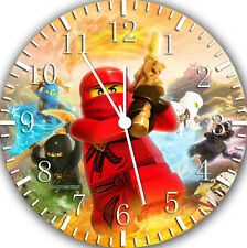 "Leog Ninja Ninjago wall Clock 10"" will be nice Gift and Room wall Decor W119"