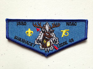 SUANHACKY-OA-LODGE-49-SCOUT-SERVICE-PATCH-FLAP-1990-NOAC-DELEGATE-75-CLOTH-MINT