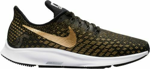 Nike Women/'s Air Zoom Pegasus 35 Running Shoes Black//Wheat Gold//White 942855-007
