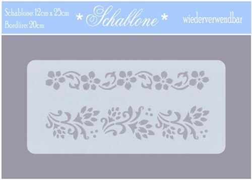 12cm x 25cm-Adhesives-floral 7246 Galería de símbolos-Vintage-SHABBY
