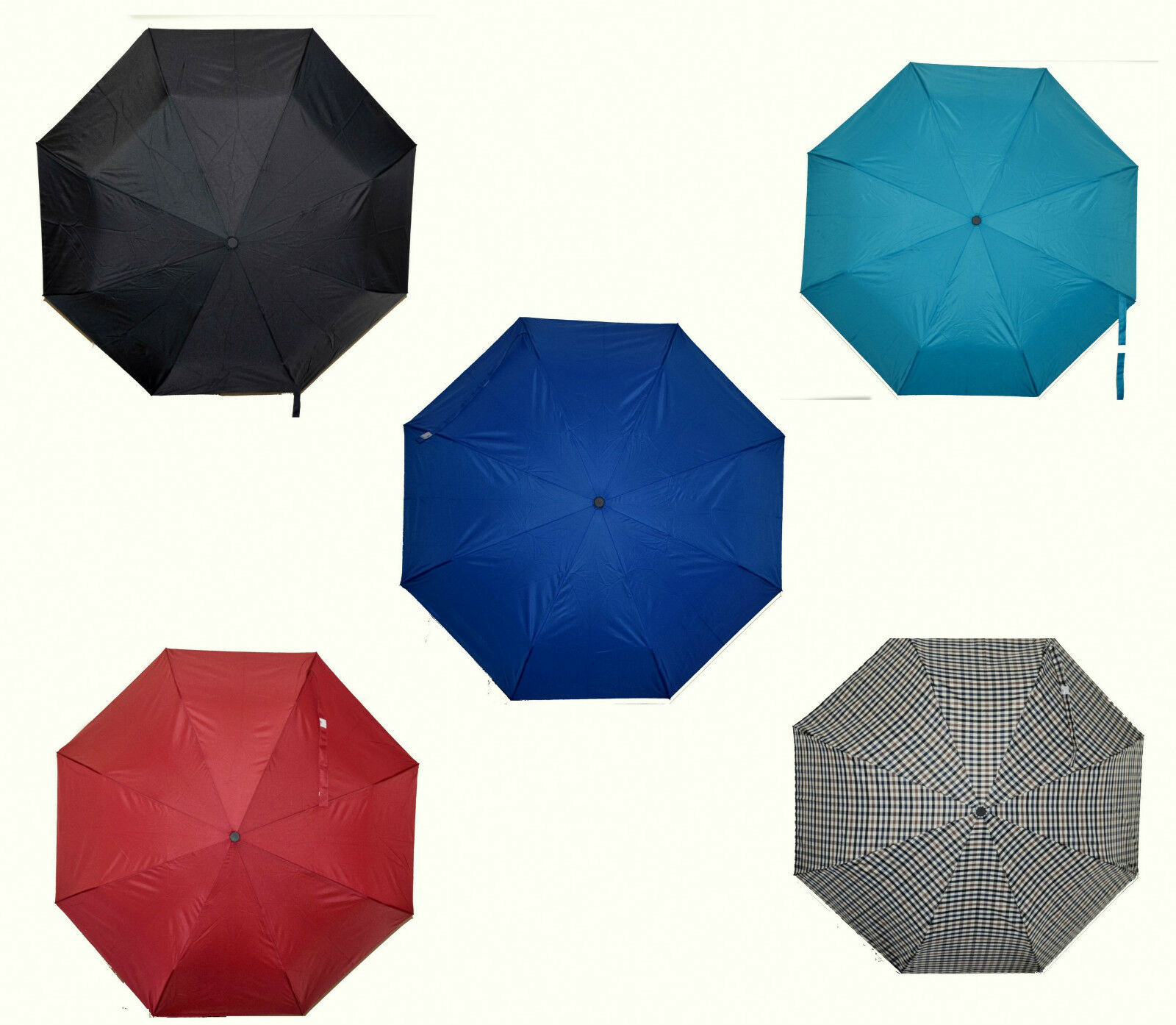 Fully Automatic Windproof Umbrella 3 fold Opens & Close Push Button Soft Grip