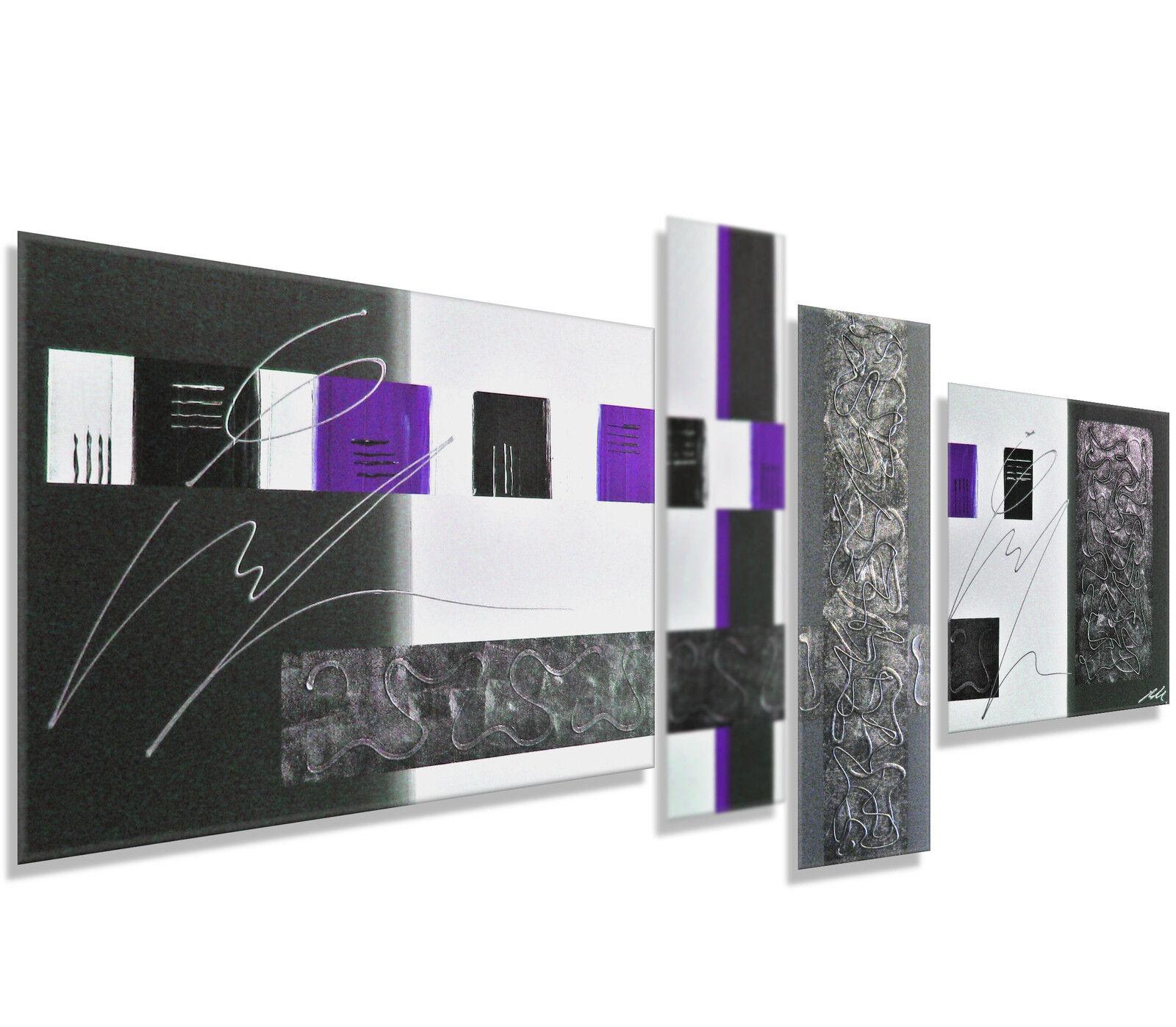 Mk1 Art Image toile toile toile tableau abstrait art peinture violet images abstrait xxl   Une Bonne Conservation De Chaleur    De Grandes Variétés    La Reine De La Qualité  be1011