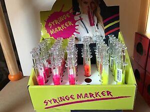 Textmarker-Stift-Spritze-Style-Syringe-Marker