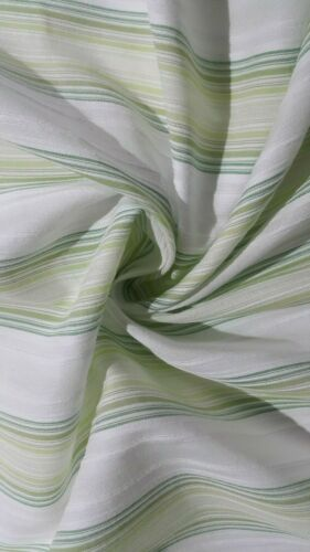 À Rayures Vert Blanc Poly//Coton Tissu-vendu au mètre