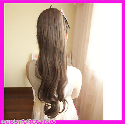 Hair Piece Extension-Natural Long Wavy Tie-in Style Ponytail 10+ Colour availabl