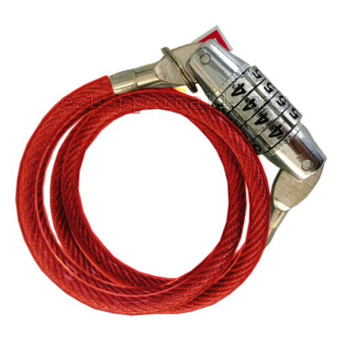 """24/"""" 4-Digit Bicycle Bike Combination Cable Lock Anti-Theft Security AD-15"""